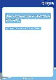 Spare Seats Policy 2019-2020