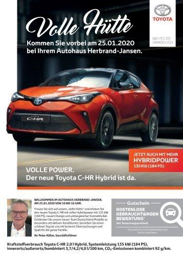 Toyota Volle Hütte 2020 by Herbrand-Jansen