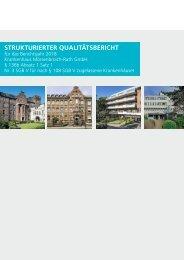 Qualitätsbericht 2018 - KMR | Krankenhaus Mörsenbroich Rath GmbH