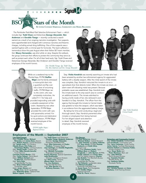 BSO Stars of the Month By