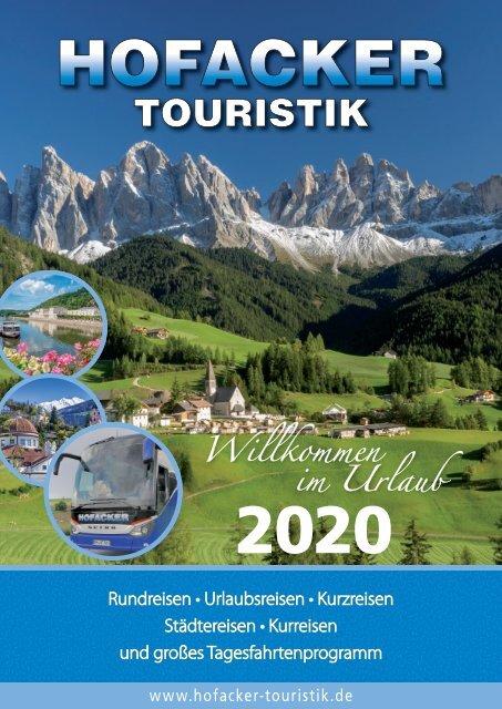 Hofacker Touristik Sommer 2020