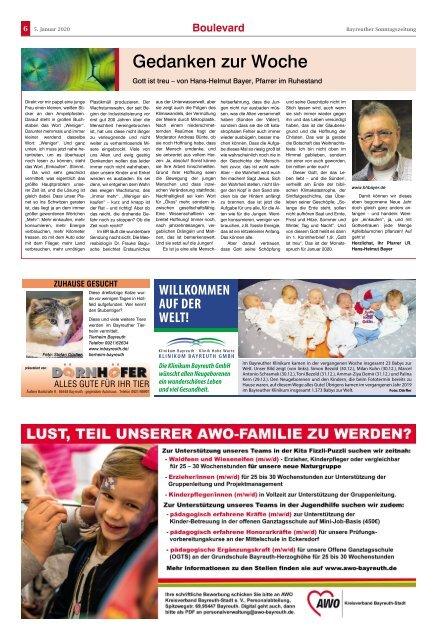 2020-01-05 Bayreuther Sonntagszeitung