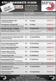 AKTUELLE STELLEN MPV 01-2020