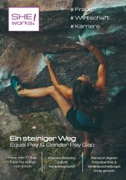 Ein steiniger Weg - Equal Pay & Gender Pay Gap – Das SHE works! Magazin im Januar 2020