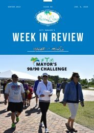 City of Palm Coast Week in Review - Issue 08 - Jan. 6 - 2019