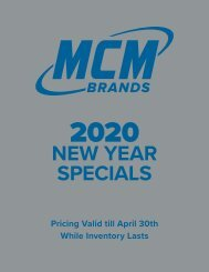 MCM Brands 2020 New Year Specials