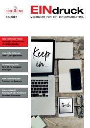 EINdruck - Der Newsletter von Göbel+Lenze Ausgabe 01/2020
