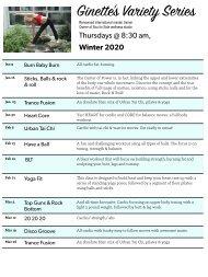 ginette Winter 2020 classes