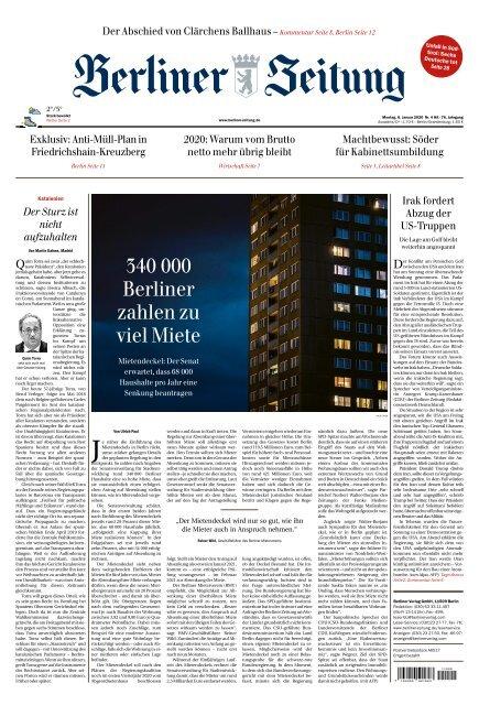 Berliner Zeitung 06.01.2020