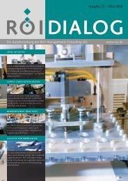 DIALOG Ausgabe 25 - ROI Management Consulting AG