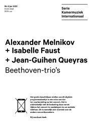2020 01 08 Alexander Melnikov + Isabelle Faust + Jean-Guihen Queyras
