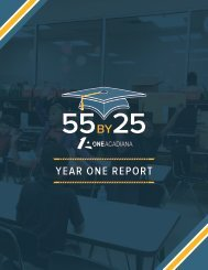 55 by 25 Year One Report