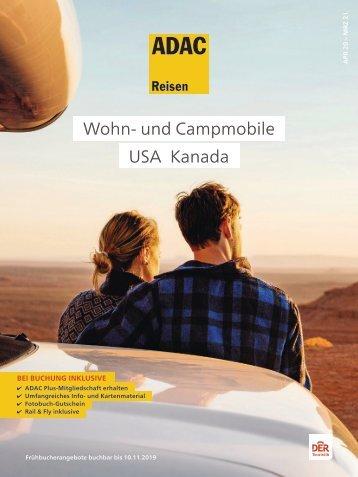 ADAC Reisen Camper USA und Kanada