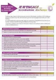 Charte Engage Zéro Déchet - Zéro Plastique