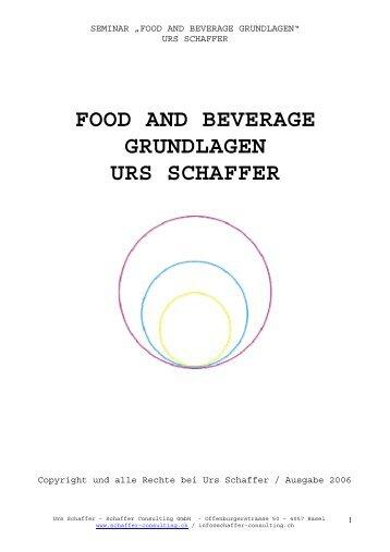 food and beverage grundlagen urs schaffer - news-data.ch