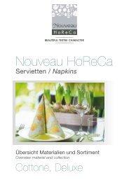 Nouveau HoReCa 2020 - Servietten, Napkins