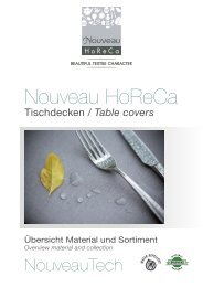 Nouveau HoReCa 2021 - Tischdecken, Tablecovers
