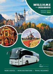 Williams Travel 2019-2020 Winter Spring Brochure