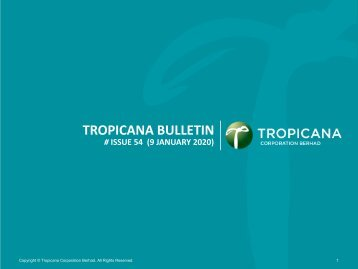 Tropicana Bulletin Issue 54, 2020