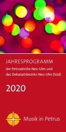 Musik in Petrus - Jahresprogramm 2020