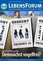 ALfA e.V. Magazin – LebensForum | 130 2/2019