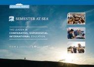 Semester at Sea Academic Profile - 2018