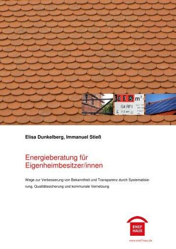 Elisa Dunkelberg, Immanuel Stieß - ENEF-Haus