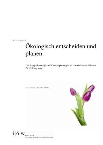 Ökologisch entscheiden und planen - Institut für ökologische ...