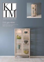 Klim Furniture - V101 - glas vitrine - DANMARK
