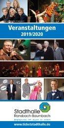 Veranstaltungskalender der Stadthalle Ransbach-Baumbach 2019/2020