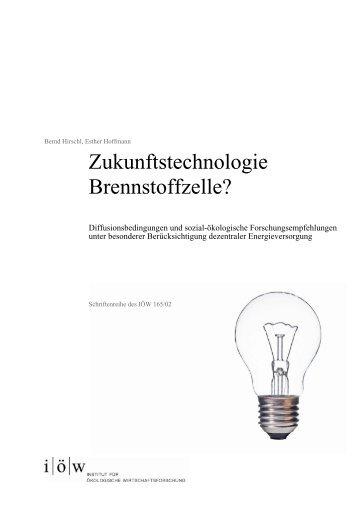 Zukunftstechnologie Brennstoffzelle? - Institut für ökologische ...