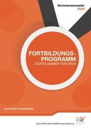 Fortbildungsprogramm Ärztekammer für Wien - ZAM - Sommersemester