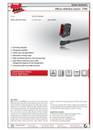 laser sensors - IPF Electronic GmbH