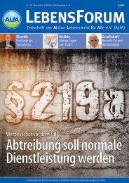 ALfA e.V. Magazin – LebensForum   124 4/2017