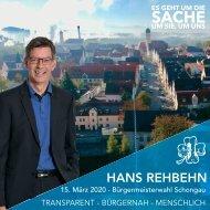 Hans Rehbehn - Ihr Bürgermeisterkandidat für Schongau