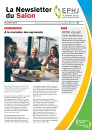 EPHJ 2020 - La Newsletter du Salon