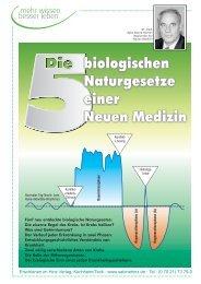Die 5 biologischen Naturgesetze einer Neuen Medizin