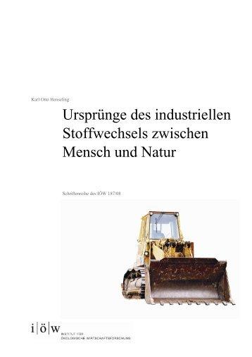 Schriftenreihe 187/08 - Institut für ökologische Wirtschaftsforschung
