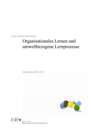 IOEW-SR 170 Organisationales Lernen 01.pdf, pages - Institut für ...