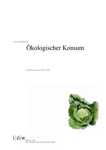 IOEW SR 025 Oekologischer Konsum.pdf, pages 1 - Institut für ...