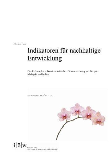 Indikatoren für nachhaltige Entwicklung - Institut für ökologische ...