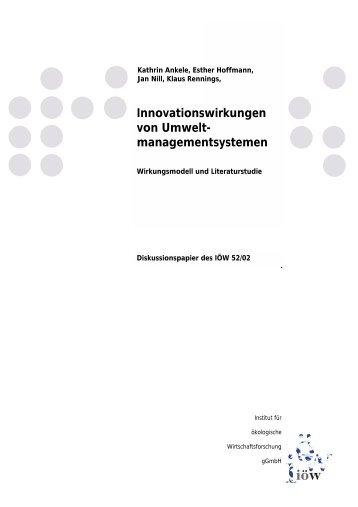 managementsystemen - Institut für ökologische Wirtschaftsforschung
