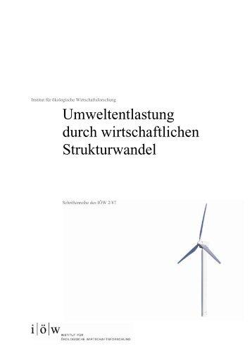 """SJtAr """"X - Institut für ökologische Wirtschaftsforschung"""