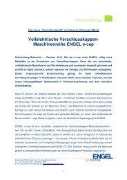 Vollelektrische Verschlusskappen- Maschinenreihe ... - Engel Austria