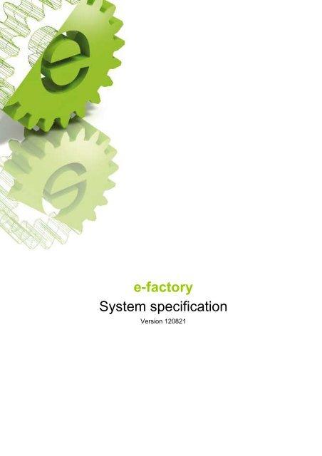 e-factory System specification - Engel Austria