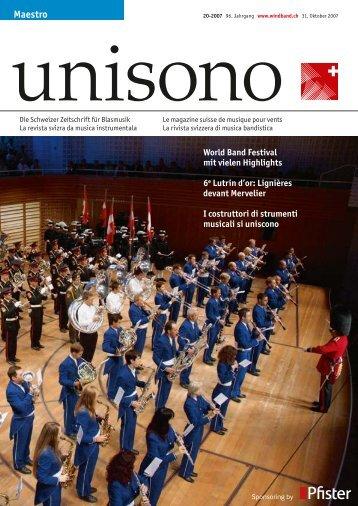 10 unisono - Schweizer Blasmusikverband