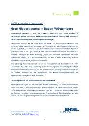 Neue Niederlassung in Baden-Württemberg - Engel Austria
