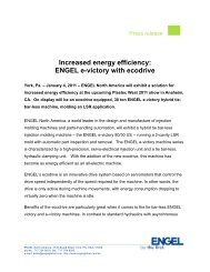 Increased energy efficiency: ENGEL e-victory with ... - Engel Austria