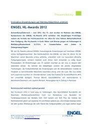 ENGEL HL-Awards 2012 - Engel Austria