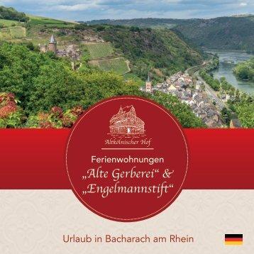 """Urlaub in Bacharach – Ferienwohnungen """"Alte Gerberei"""" & """"Engelmannstift"""""""